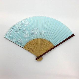 大西常商店 京扇子 桜 青(女性用)