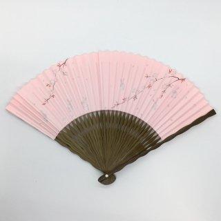 大西常商店 京扇子 桜とうさぎ ピンク(女性用)