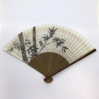 大西常商店 京扇子 竹と雀(男性用)