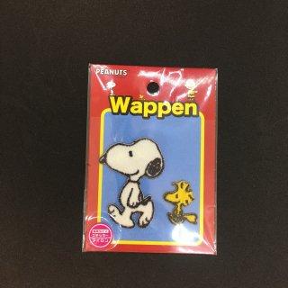 【ネコポス対応】スヌーピー ピーナッツ 刺繍ワッペンシール 2枚セット ウッドストック