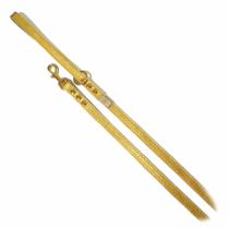 【取寄せ商品・ネコポス対応】バディベルト Gold Nugget オールレザーリード(S)