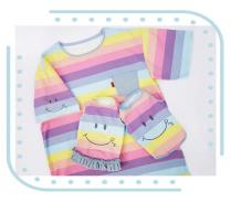 【circus circus】RAINBOW SMILE Owners T(涼感加工)ママ用Tシャツ◎2020 春夏コレクション