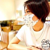 【送料無料】うちの子マスク(2枚セット)◎うちの子似顔絵イラスト入りオリジナルマスク