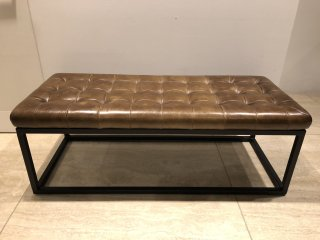 FLITWICK Couch -BROWN LEATHER
