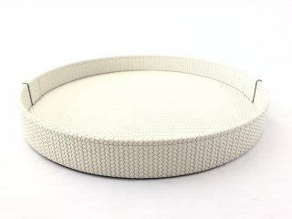 ROUND TRAY GEA LARGE FIRENZE / CREAM