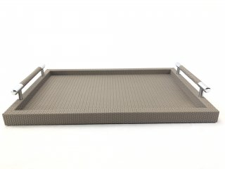 MEDIUM RECTANGULAR TRAY DEALTO FIRENZE / TAUPE