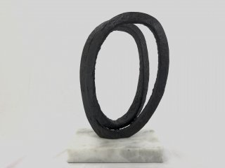 BRONZE BLACK RIBBON SCULPTURE