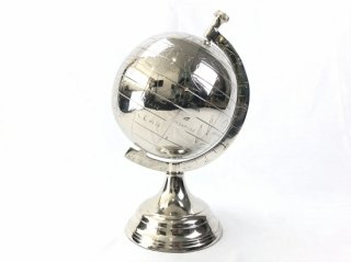 GLOBE IN NICKEL 'WORLD' Small