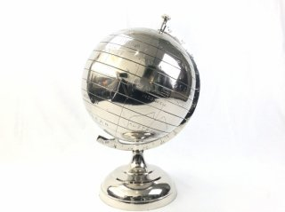 GLOBE IN NICKEL 'WORLD' Large