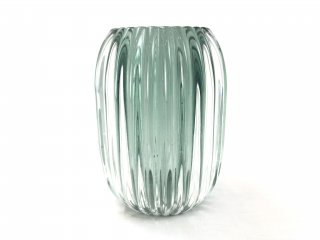 Tealight PERTU clear glass+dark green