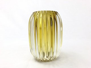 Tealight PERTU clear glass+yellow
