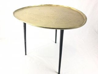 Q1 TABLE IRON ANT BLACK LEGS W/TOP ANT GOLD