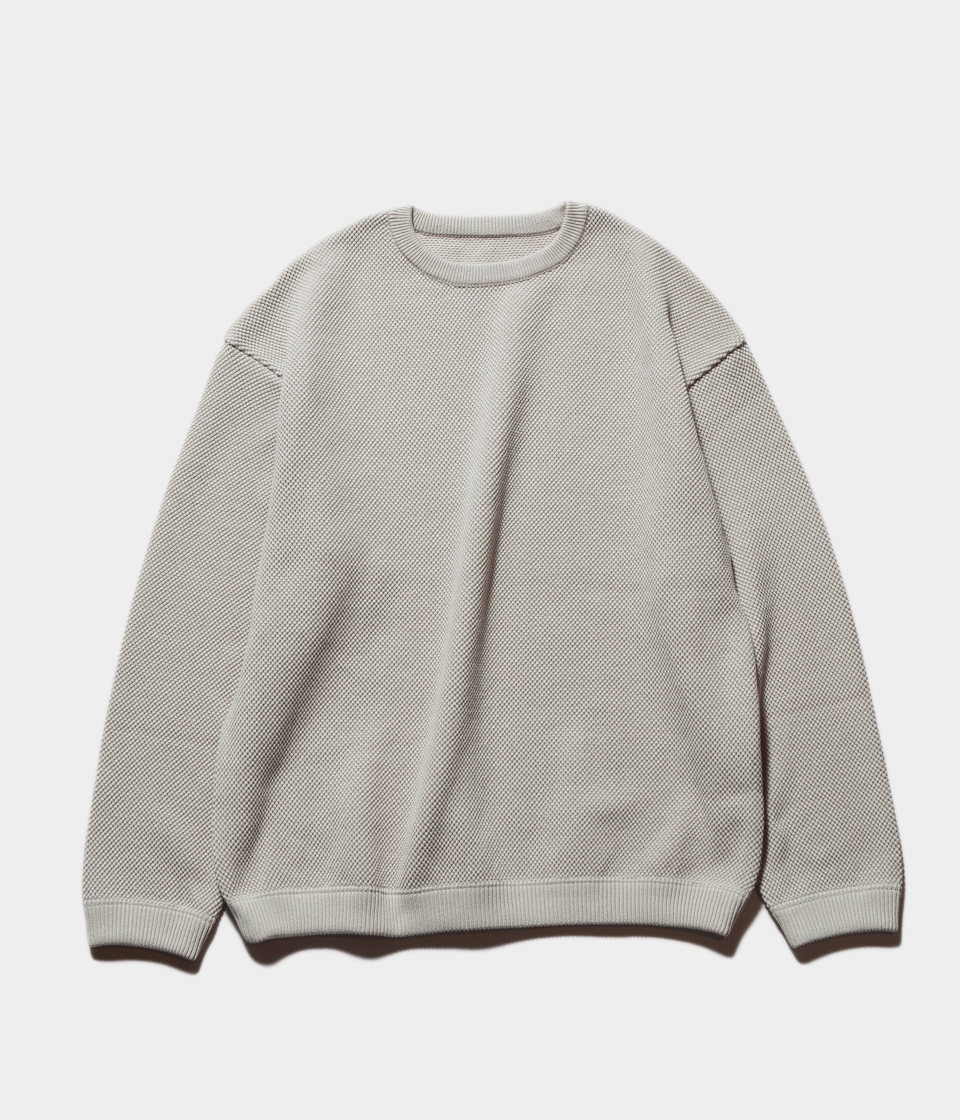 Crepuscule クレプスキュール moss stitch L/S sweat モスステッチロングスリーブスウェット