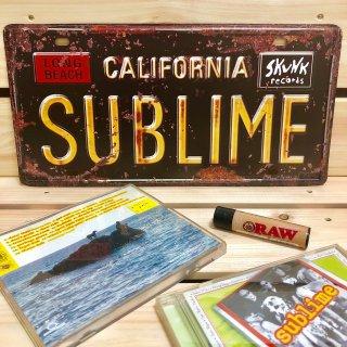 西海岸と言えばサブライム♪SUBLIMEのライセンスプレート