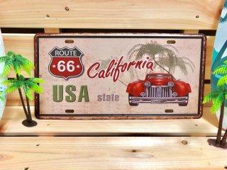 ルート66&カリフォルニアの、海を感じるサインプレート