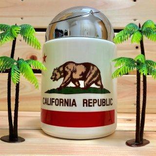 カリフォルニア州旗柄ドーム型アッシュトレイ(灰皿)