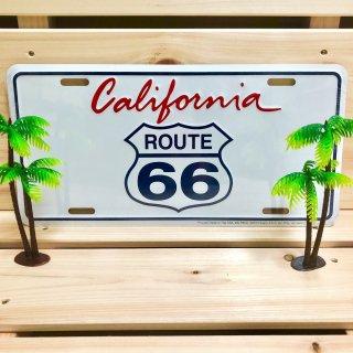 カリフォルニアルート66のサインプレート