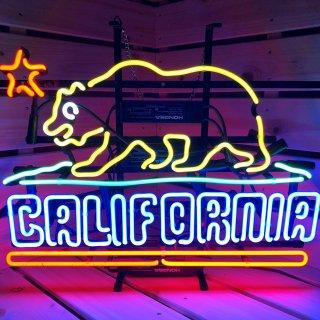 カリフォルニア州旗のネオン管