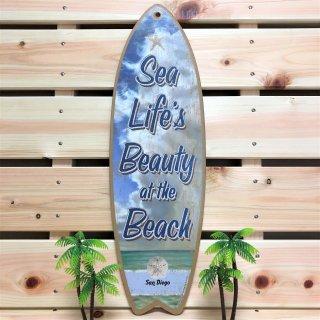 西海岸サンディエゴにて直接買付け!サーフボード型オブジェ。ビューティーアットザビーチ