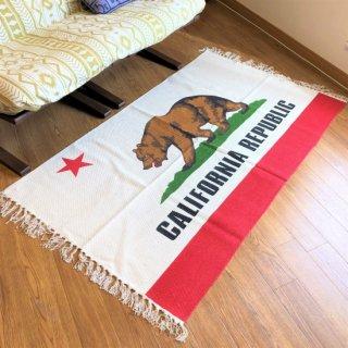 カリフォルニア州旗柄のラグマット