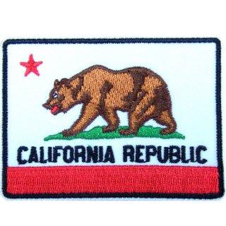服やカバン等を西海岸風にカスタム!カリフォルニア州旗柄のワッペン