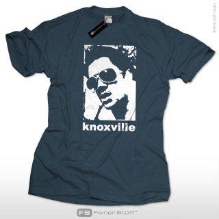 ジャッカスのメインキャスト、Johnny Knoxville ジョニーノックスヴィルのTシャツ(デニムカラー)