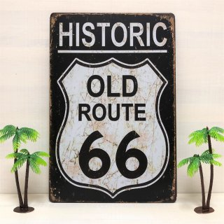 HISTORIC ROUTE66 ブリキ看板