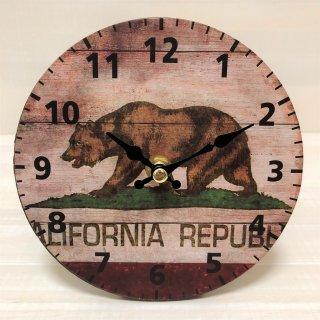 カリフォルニア州旗の置き時計