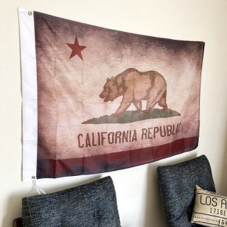 CALIFORNIA REPUBLIC VINTAGE FLAG (ヴィンテージ風カリフォルニアフラッグ)