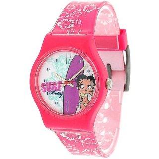 ベティちゃん BETTY BOOP サーフデザインの腕時計 ピンク