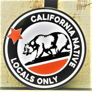 カリフォルニアリパブリック LOCALS ONLY ステッカー