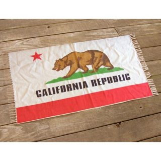 カリフォルニア州旗柄のフロアマット
