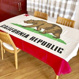 カリフォルニア州旗柄のテーブルクロス