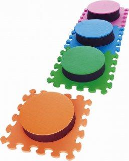 ソフトジャンピングマット 丸型(4枚組)