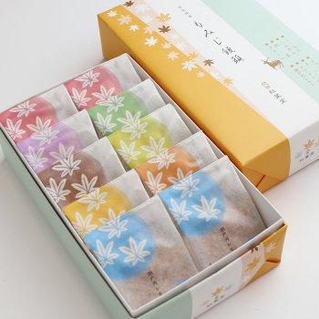 8種10個入り(こしあん・つぶあん・抹茶・クリーム・チョコレート・チーズ・瀬戸内レモン・レアチーズ)