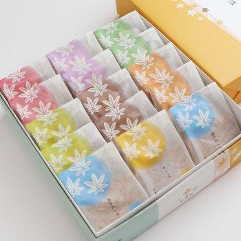 8種15個入り(こしあん・つぶあん・抹茶・クリーム・チョコレート・チーズ・瀬戸内レモン・レアチーズ)