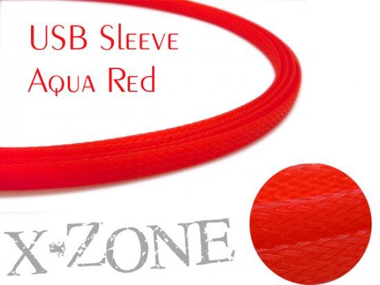 USB Sleeve - AQUA RED