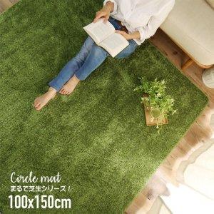 【送料無料】まるで芝生シリーズ!ウレタン入りラグ100x150cm