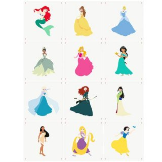 Disney Princess colleage / IXXI ウォールピクチャー