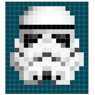 Star Wars Stormtrooper pixcel / IXXI ウォールピクチャー