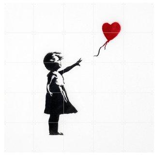 Girl with Balloon / IXXI ウォールピクチャー