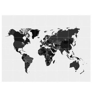 The World black & white / IXXI ウォールピクチャー