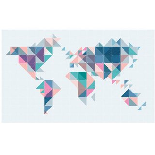 The World Tangram / IXXI ウォールピクチャー
