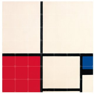 Mondriaan Composition in Colours / IXXI ウォールピクチャー