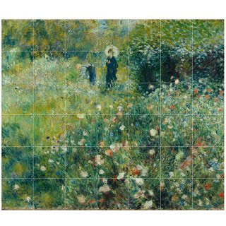 Woman with a Parasol in a Garden / IXXI ウォールピクチャー
