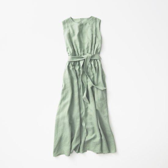 Linen Dress -Sage green