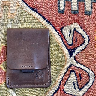 OROX LEATHER Co./ Vartical Card Holder /Natural