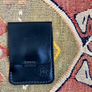 OROX LEATHER Co./ Vartical Card Holder /Black