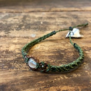Macrame Wala / Bangle / Crystal / Green