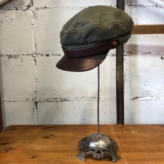 OROX LEATHER Co./ CANVAS WORK CAP/GREEN